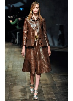 I like: the total look in leather