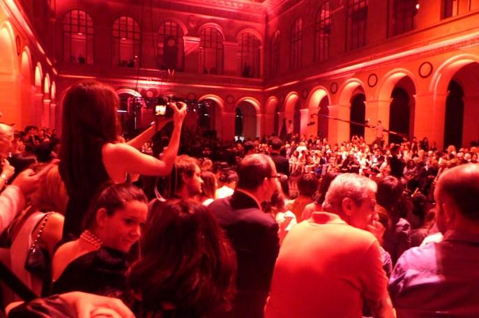 Just before the show, at Palais Brongniard, Paris.