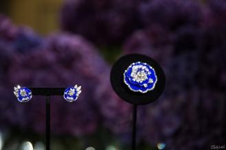 Clip et motifs d'oreilles Fleur de lapis-lazuli