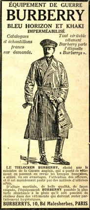The gabardine was sold to the army during WW1