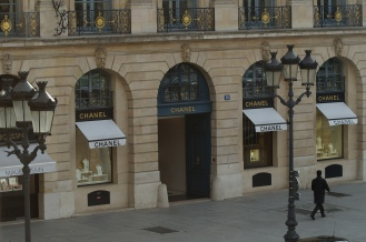 The view from the showroom Boucheron...