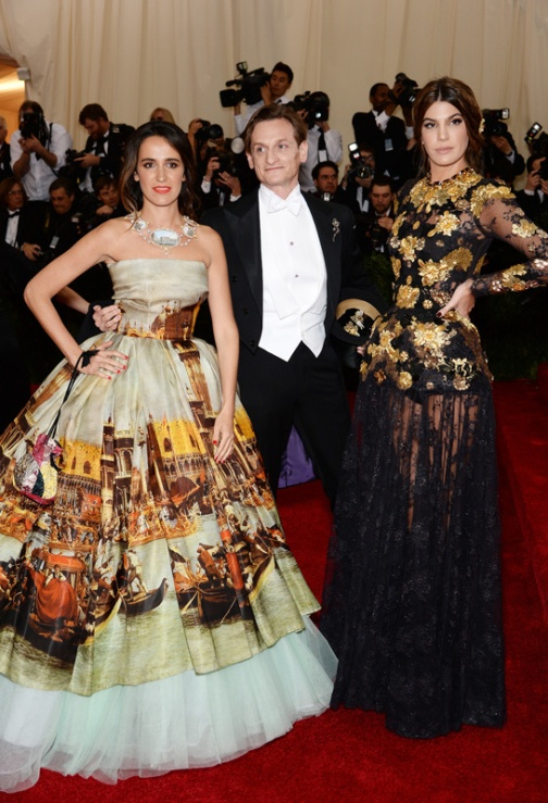 Dolce Gabbana Alta Moda for the left
