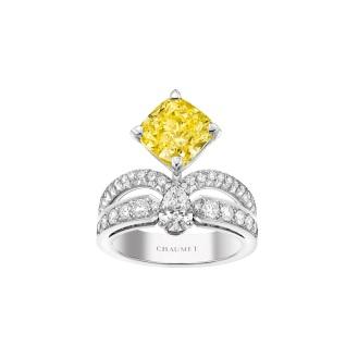 Joséphine Bague Eclat Floral Diamant Jaune Fancy Intense